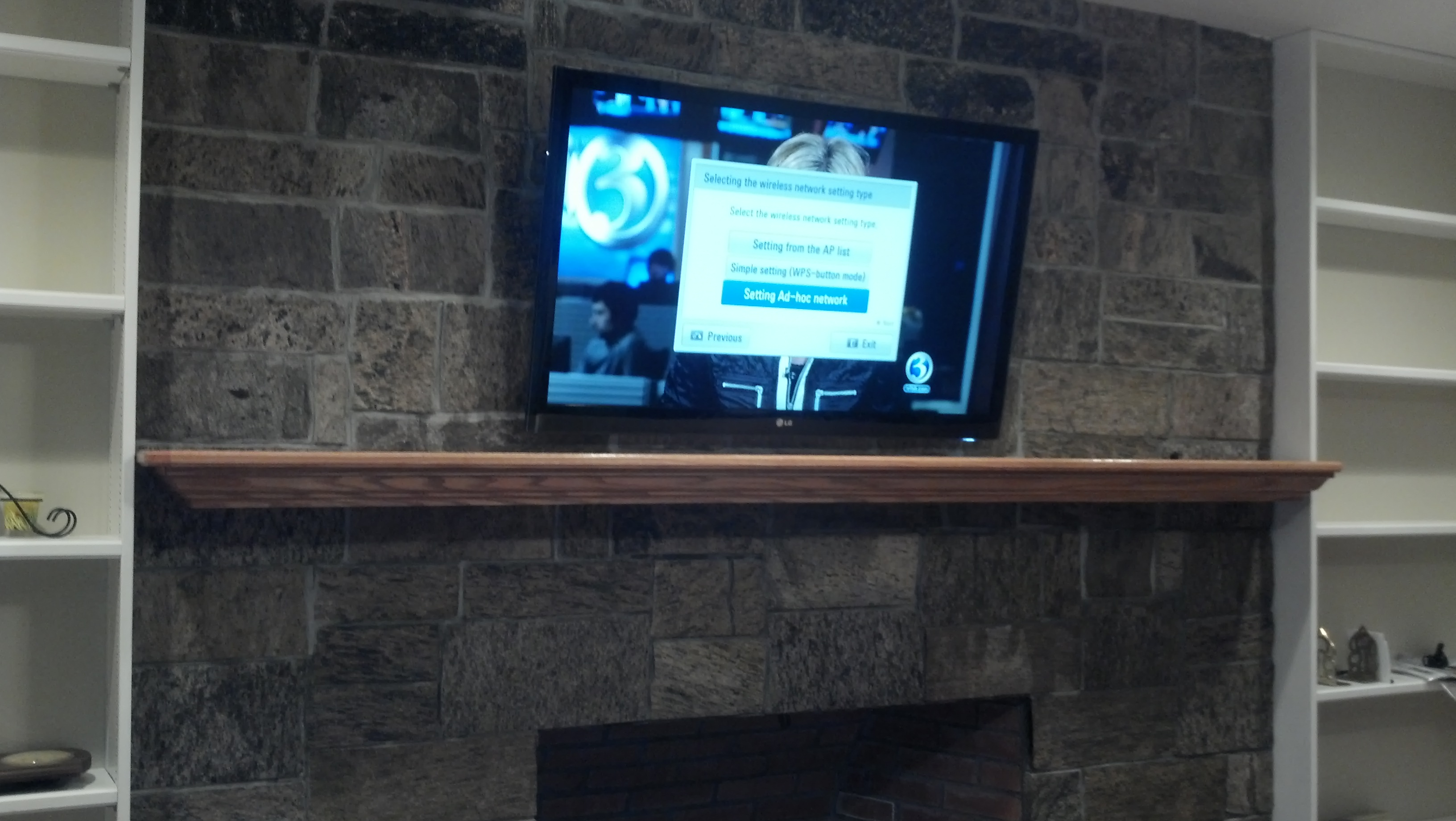 Branford ct mount tv on wall home theater installation for New construction fireplace