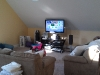 TV mounted in family room