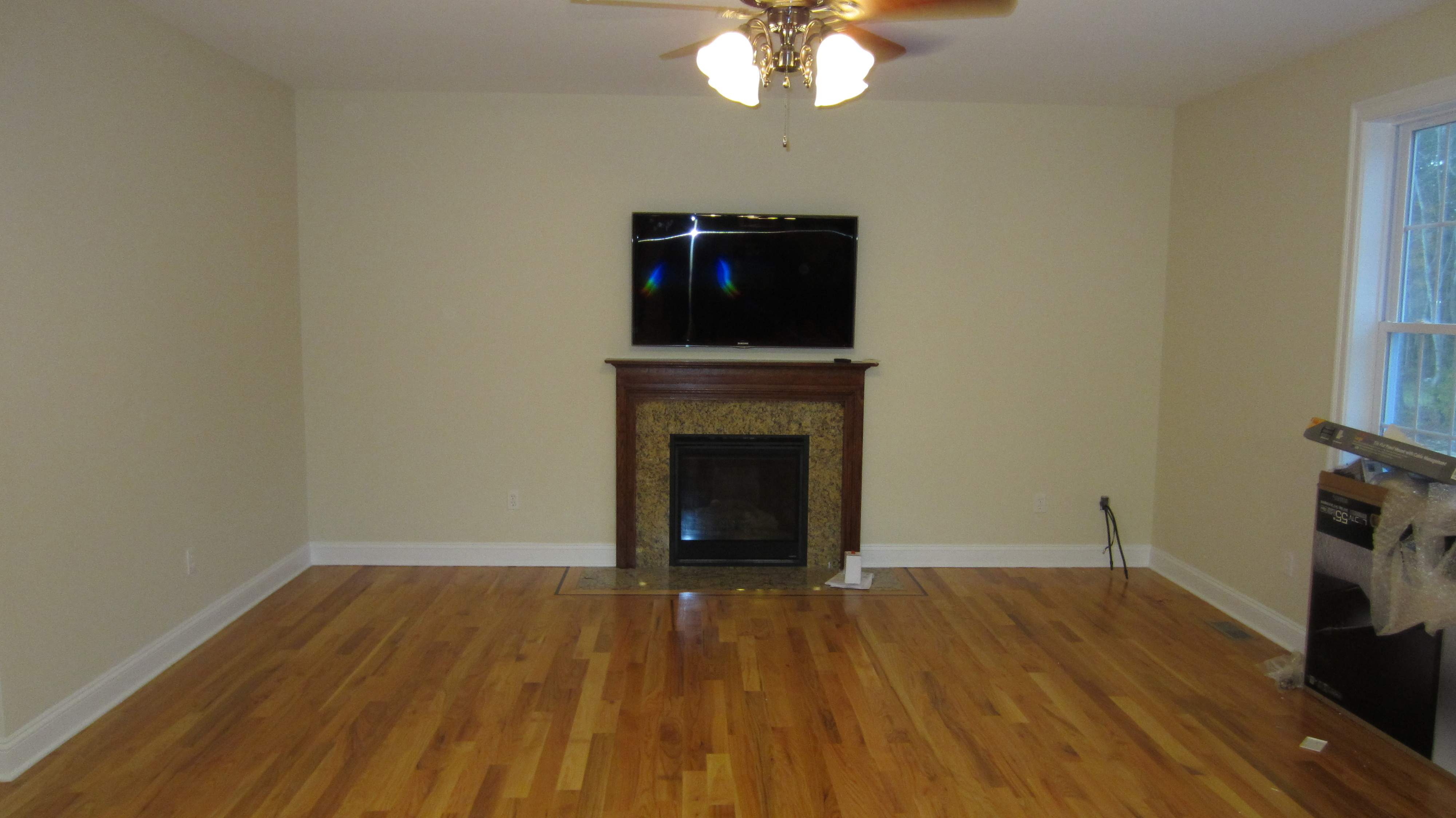 tv over fireplace installation home theater installation. Black Bedroom Furniture Sets. Home Design Ideas