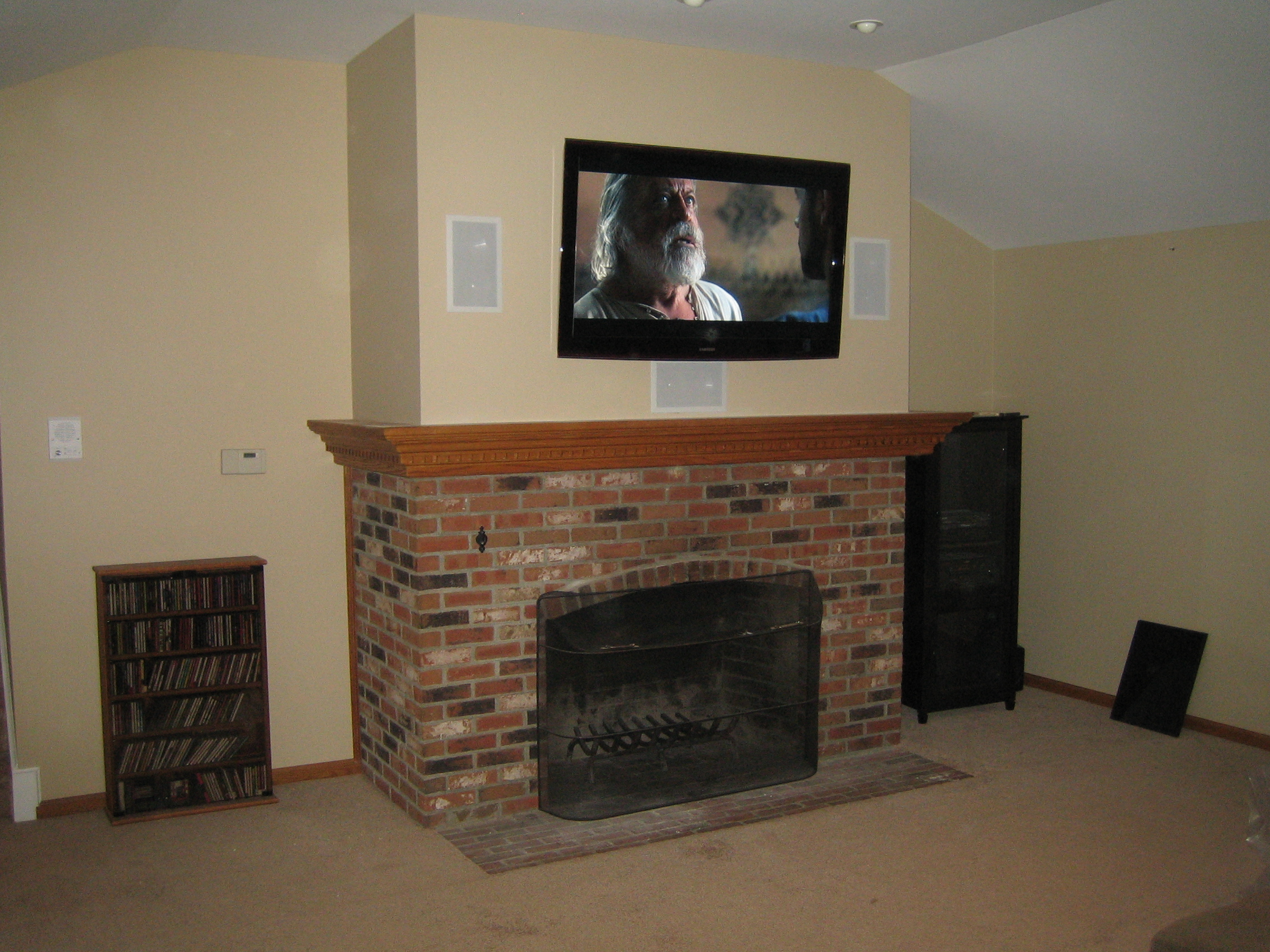 madison ct u2013 tv over fireplace installation home theater