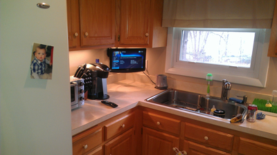 middletown ct small tv mounted in kitchen 4