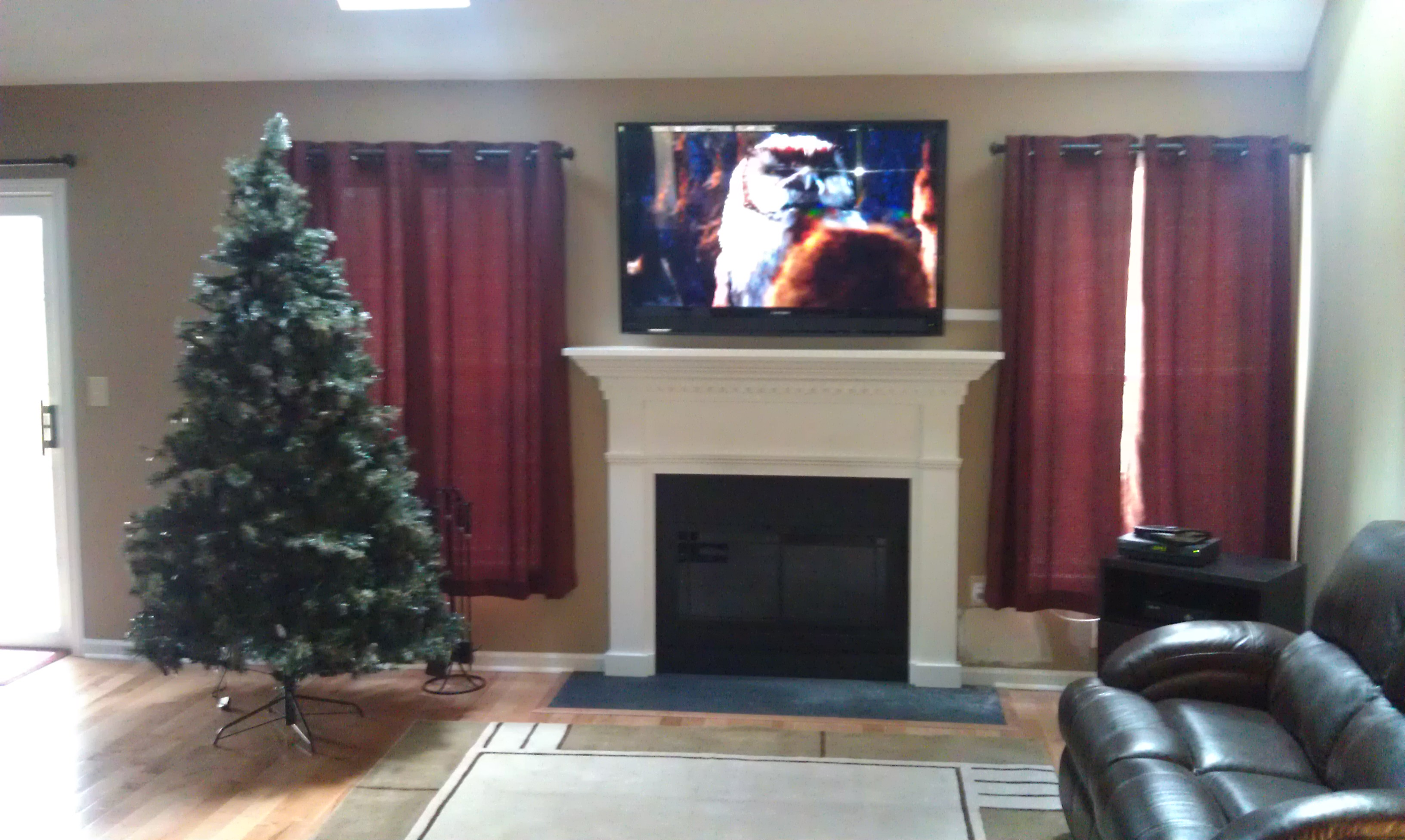 New Milford C Tv Installation Over Fireplace 1
