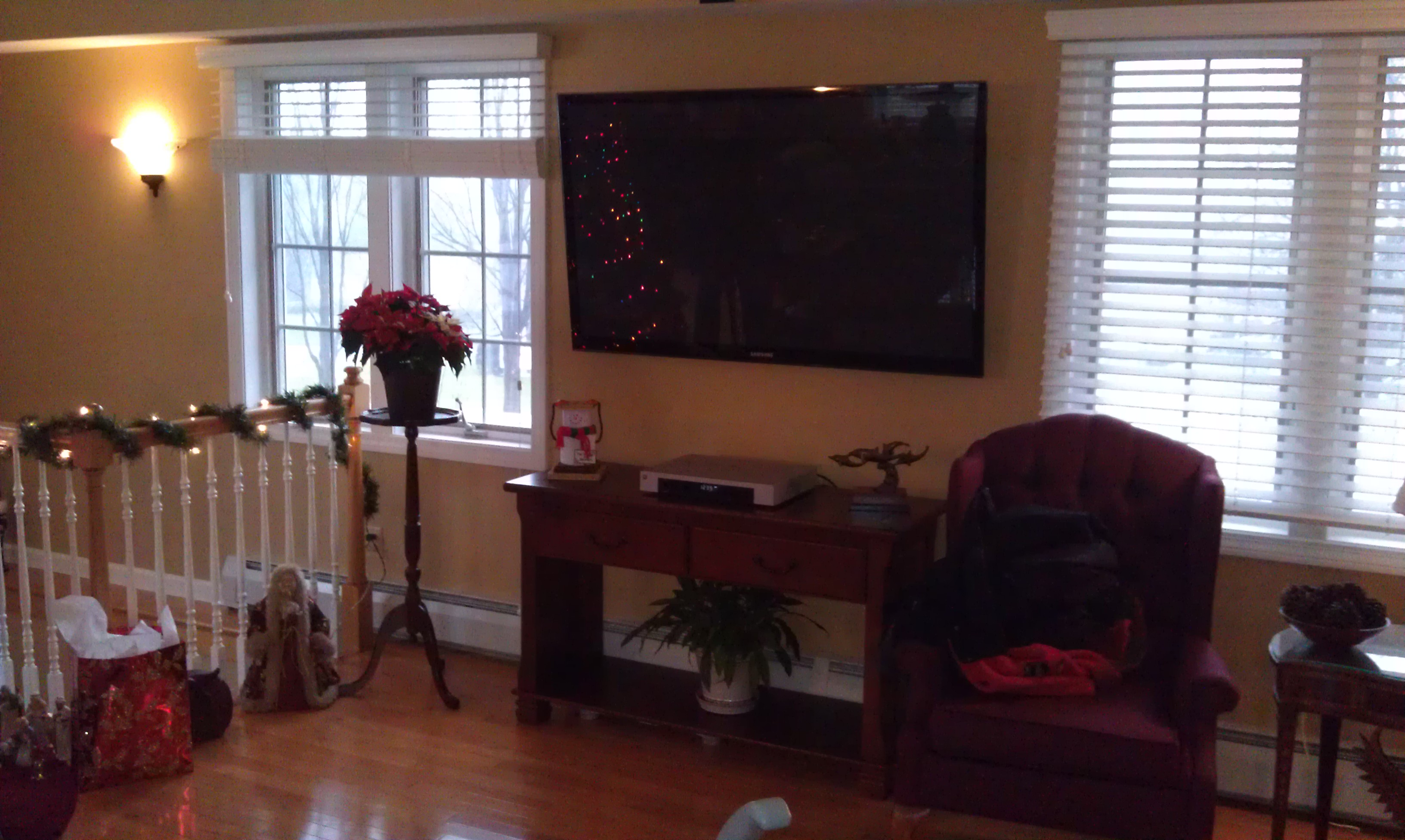 Newington CT mount tv above fireplace   Home Theater Installation