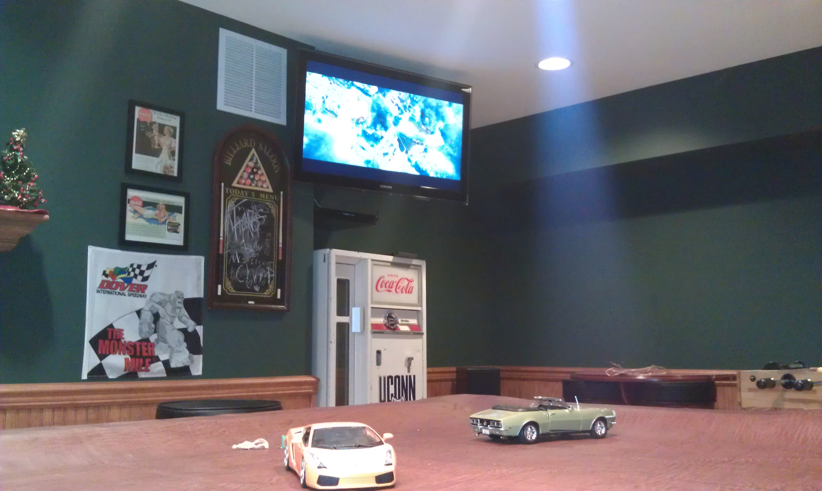 Man Cave Group : Newington ct tv on wall in sports man cave home