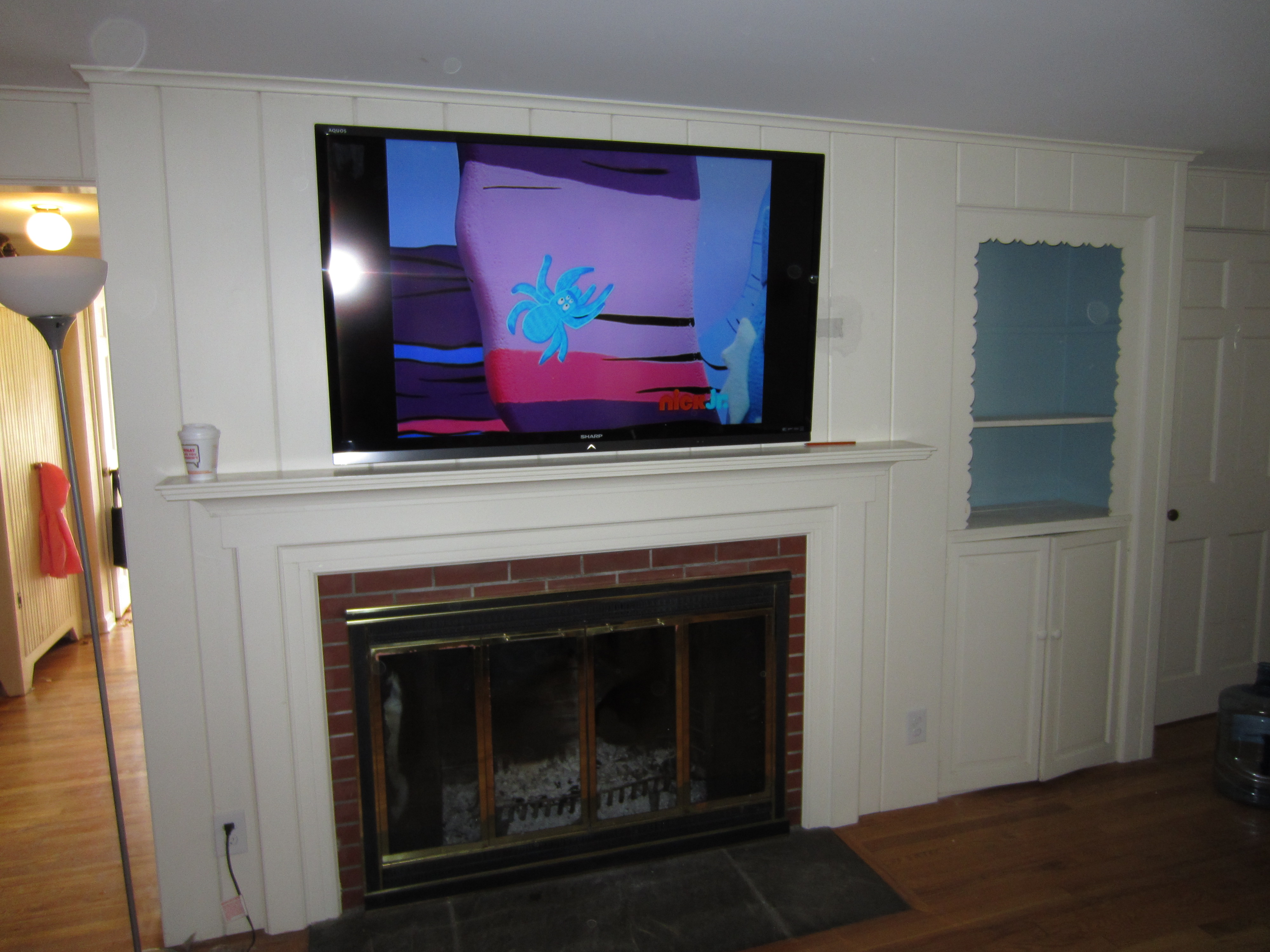 Newtown CT mount tv above fireplace | Home Theater Installation