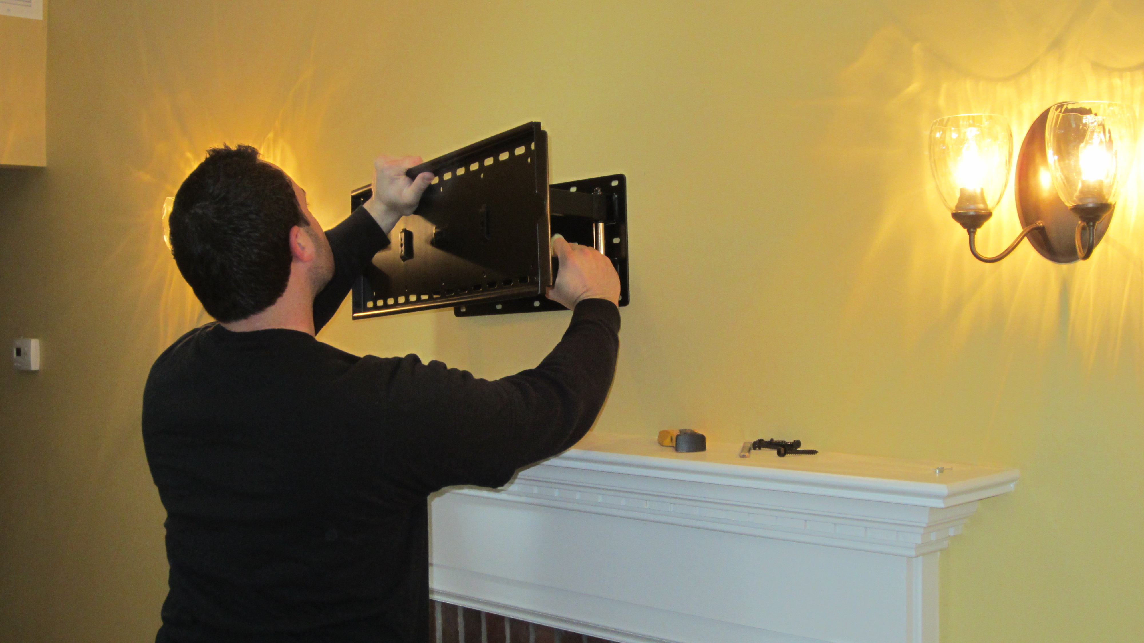 Norwalk CT mount tv above fireplace | Home Theater Installation