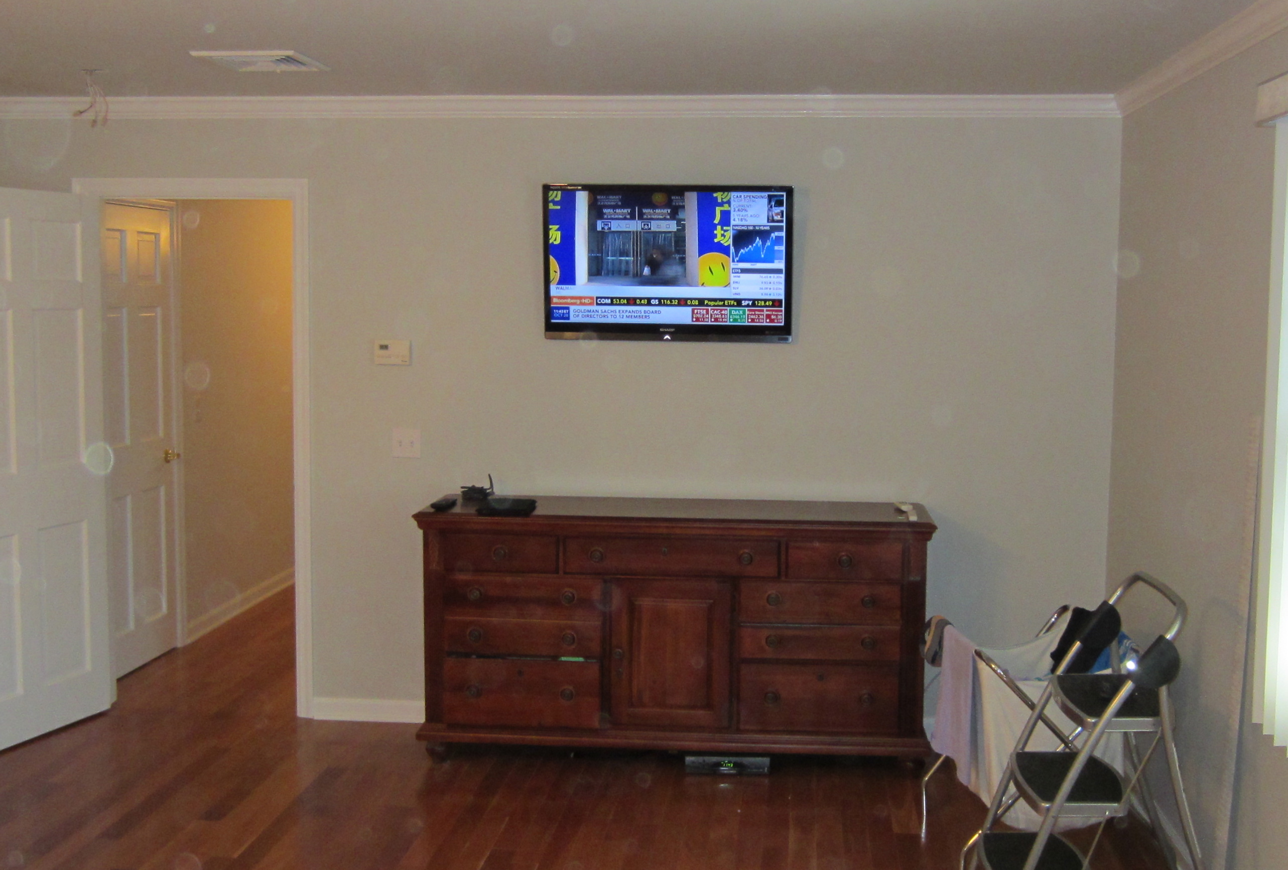 Tv In Bedroom Home Design Plan