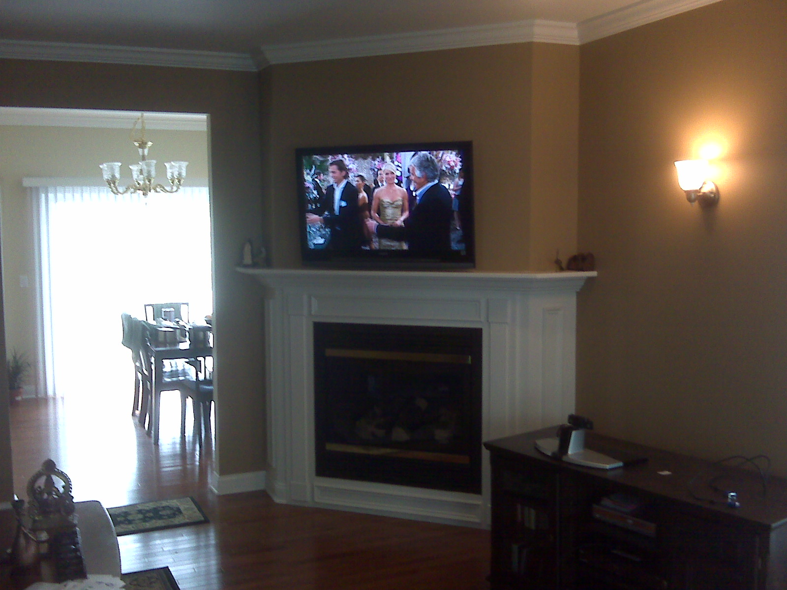 Tv over fireplace 2015 home design ideas for Tv over fireplace