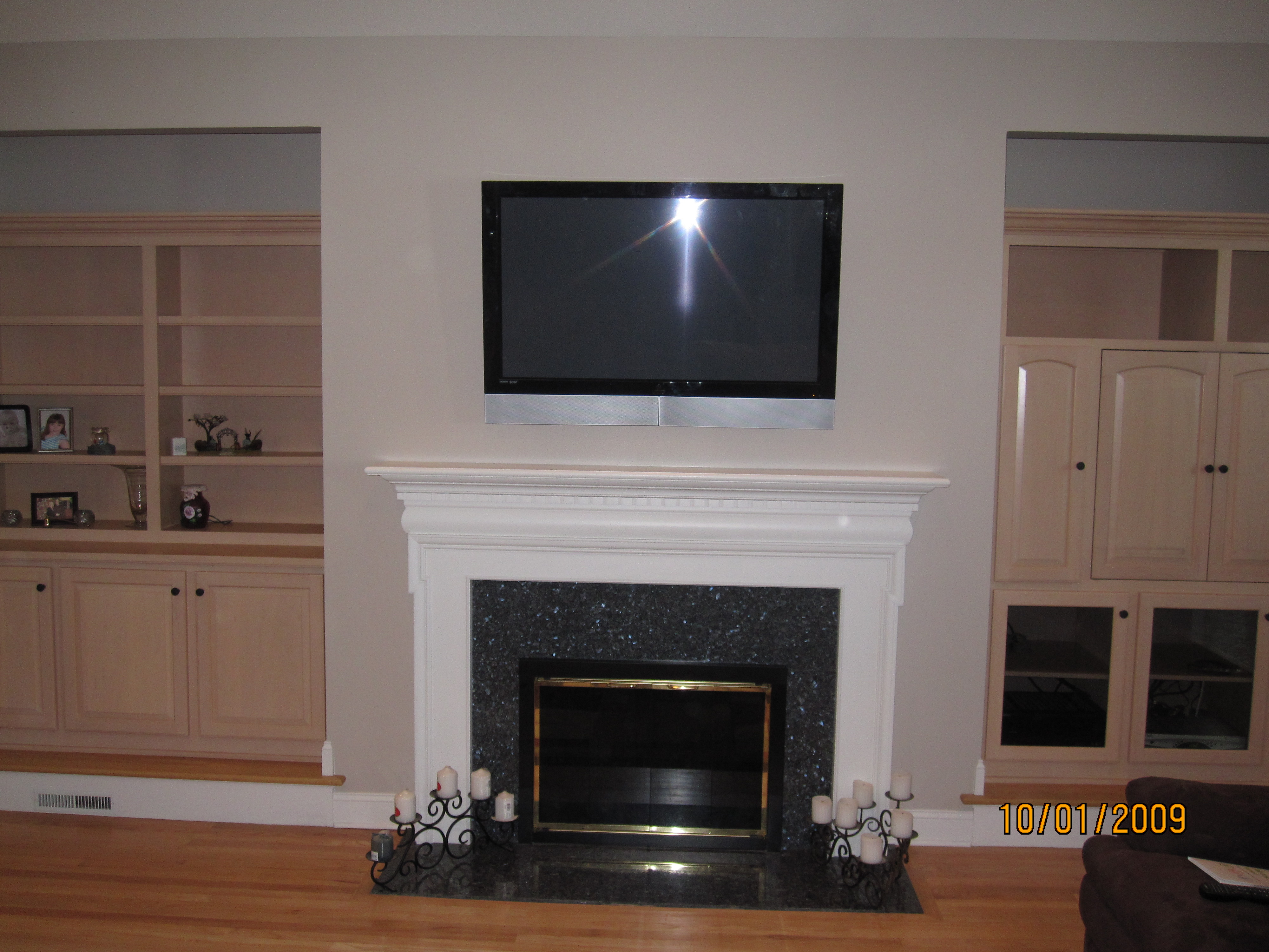 New Milford Ct Mount Tv Above Fireplace Home Theater