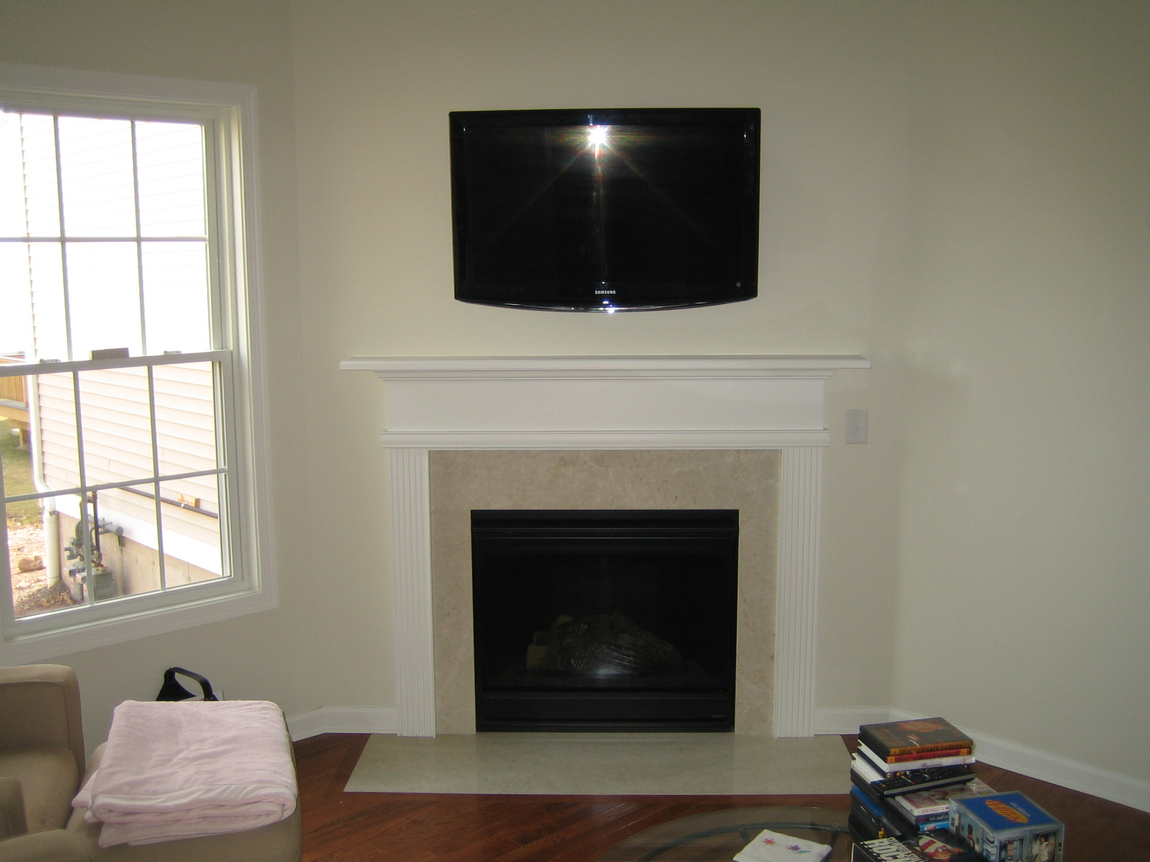 Clinton Ct Mount Tv Above Fireplace Richey Group Llc Audio Video Experts