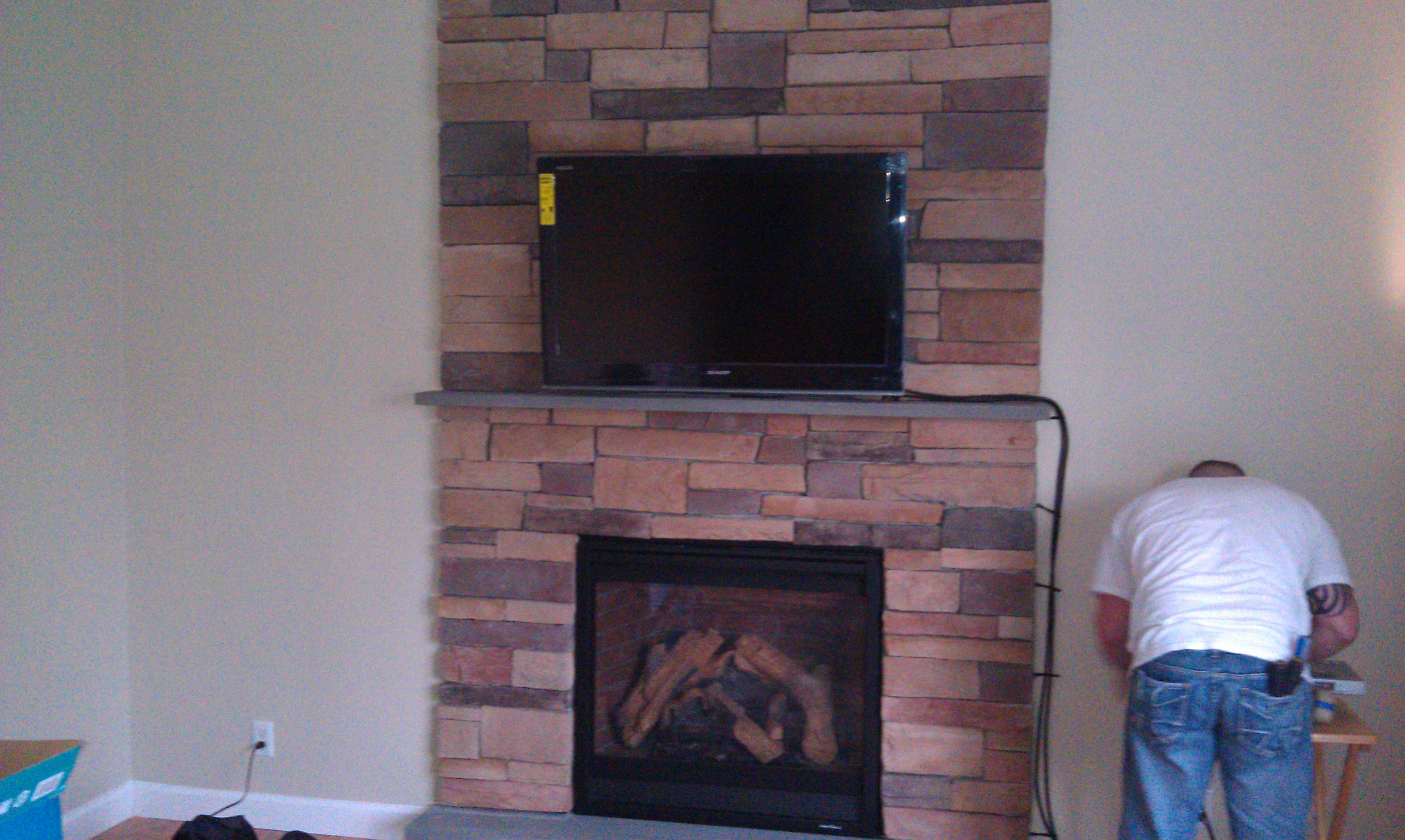 Wallingford Ct Mount Tv Above Fireplace Home Theater Installation