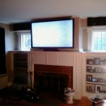 "Cheshire, CT - 65"" LCD TV Over fireplace. Complete Custom Home Theater. 7.1 In wall speakers"
