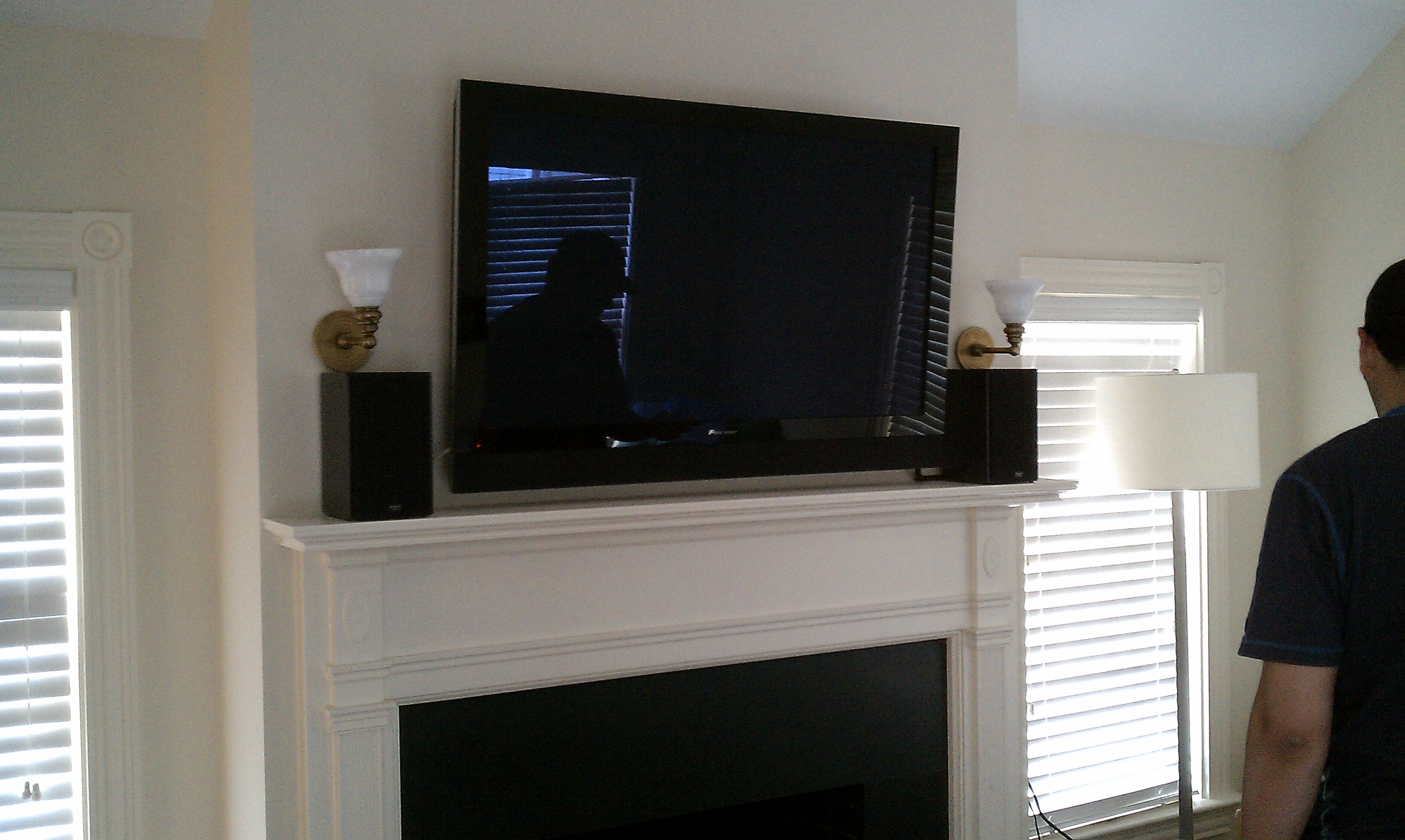 Simsbury Ct Tv Install Above Fireplace Plaster Wall Home