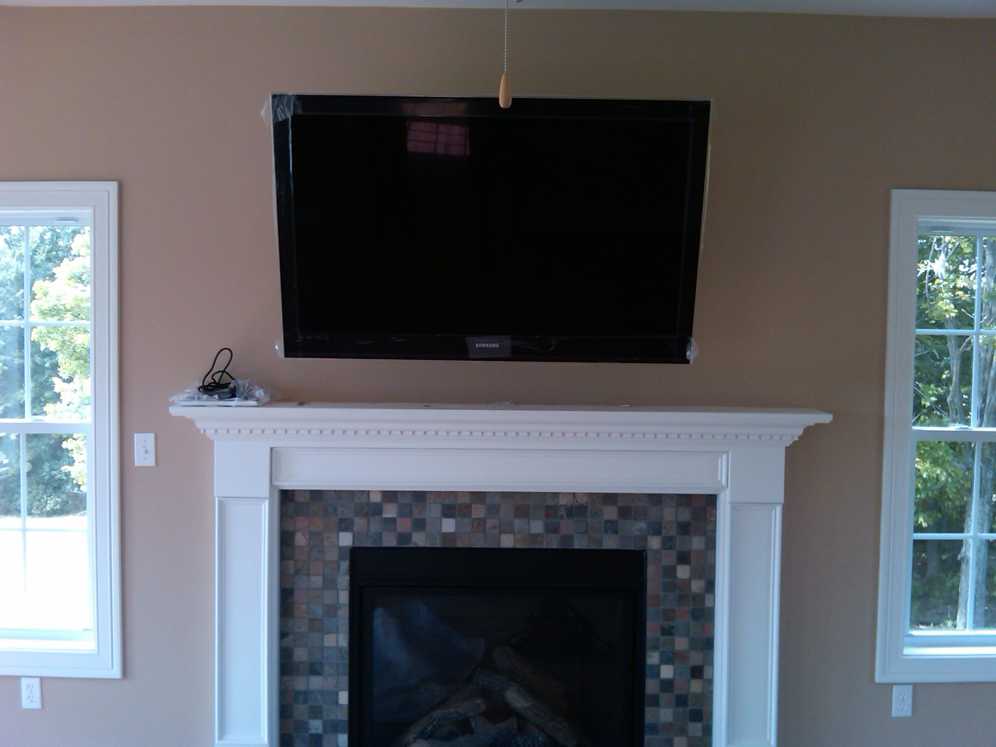 Tv Over Fireplace Installation Home Theater Installation