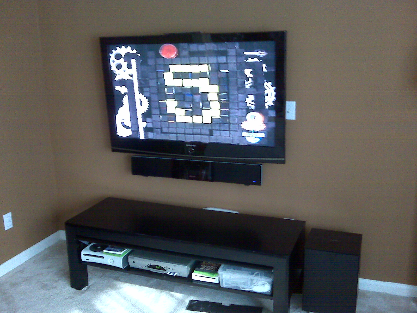 Wallingford Ct Tv Mounted On Wall With Sound Bar Below
