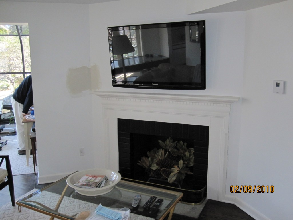 Tv Fireplace Where To Put Components Tv Above Fireplace Where To Put Cable Box And