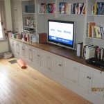 Fairfield, CT - Cabinet modification TV mounted on wall. floating effect