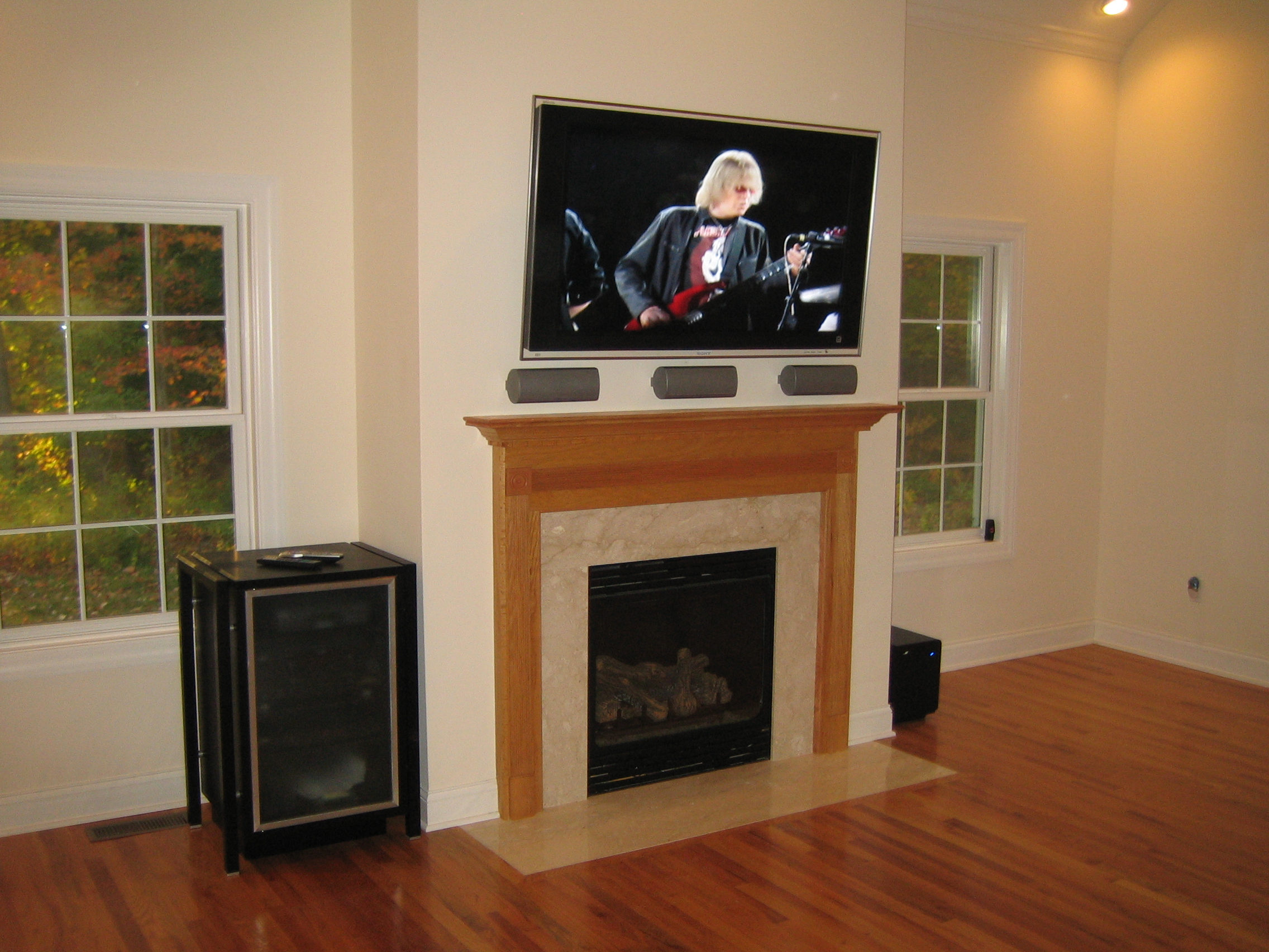 Stratford Ct Home Theater Installation And Tv Over Fireplace Richey Group Llc Audio Video