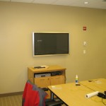 Westport, CT - TV Installed on wall in office building
