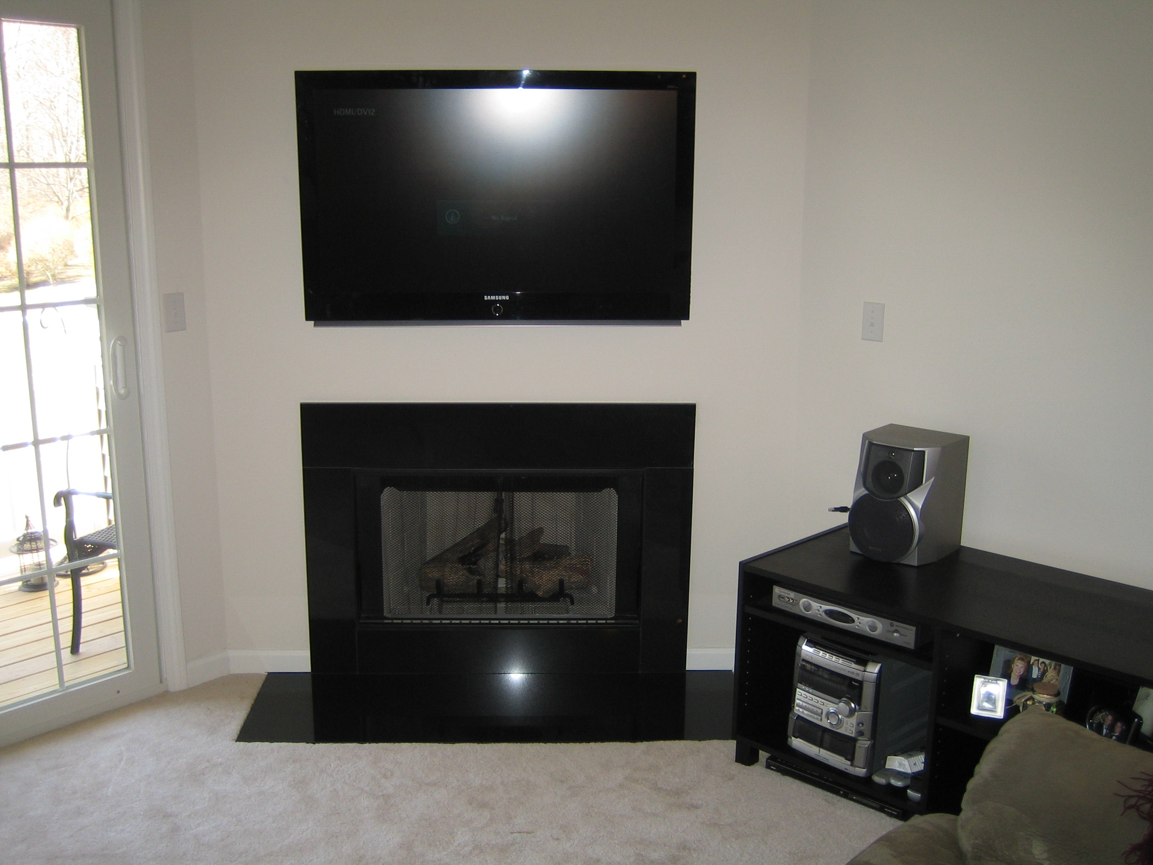 woodbury ct u2013 tv install above fireplace home theater installation