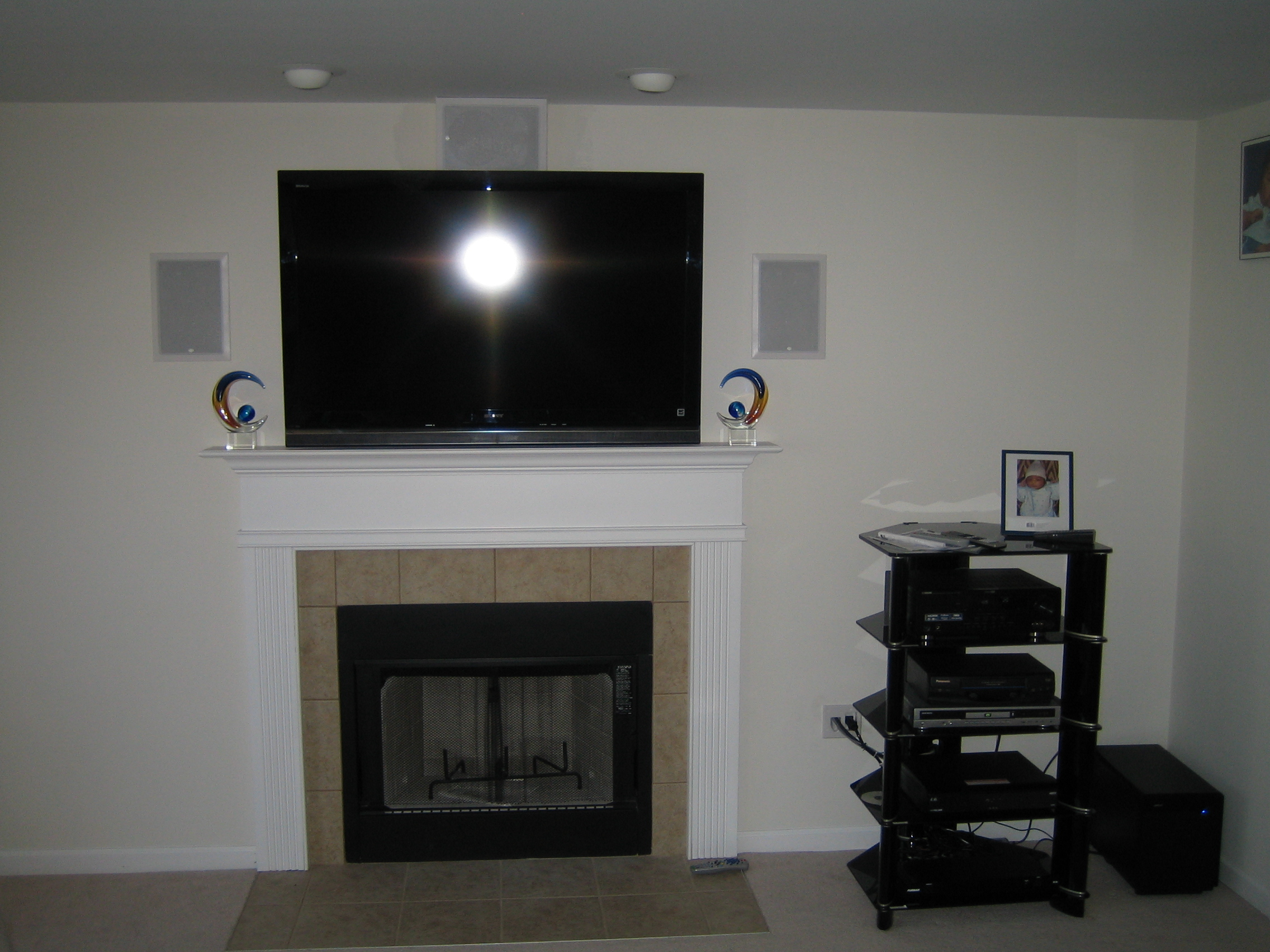 Cos Cob Ct 5 1 Surround Sound With Tv Mounted Over
