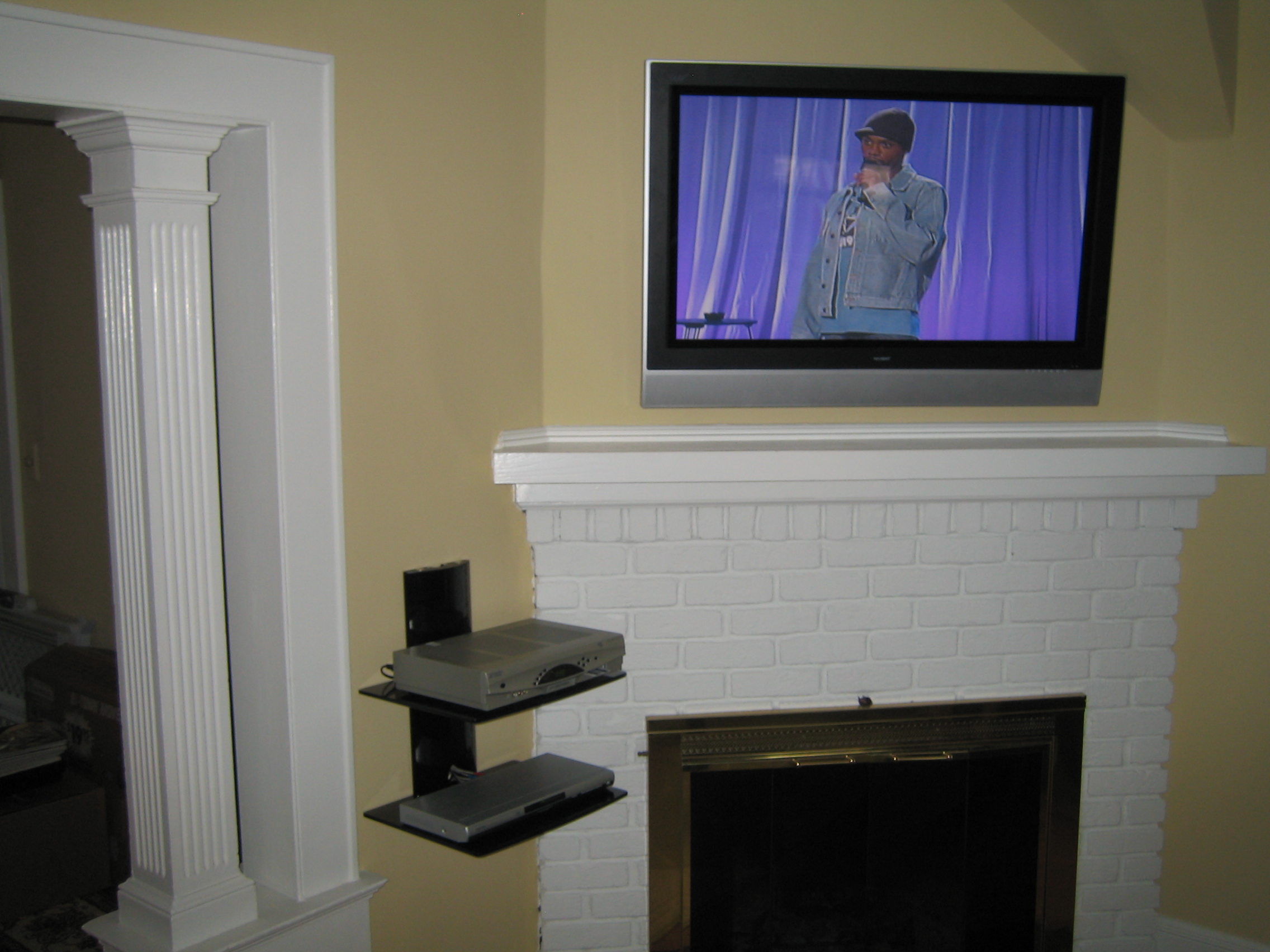 Coventry Ct Mount Tv Above Fireplace Home Theater