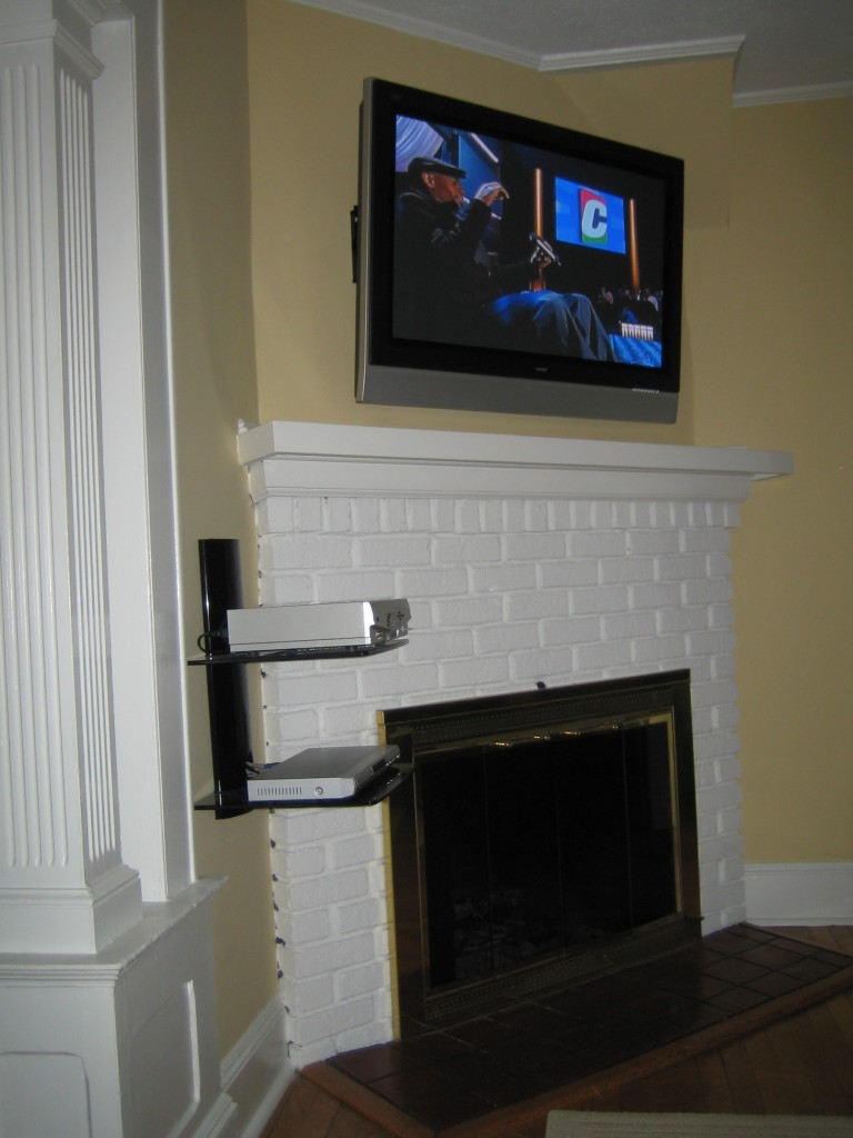 Coventry Ct Tv Instlal Over Fireplace With All Wires