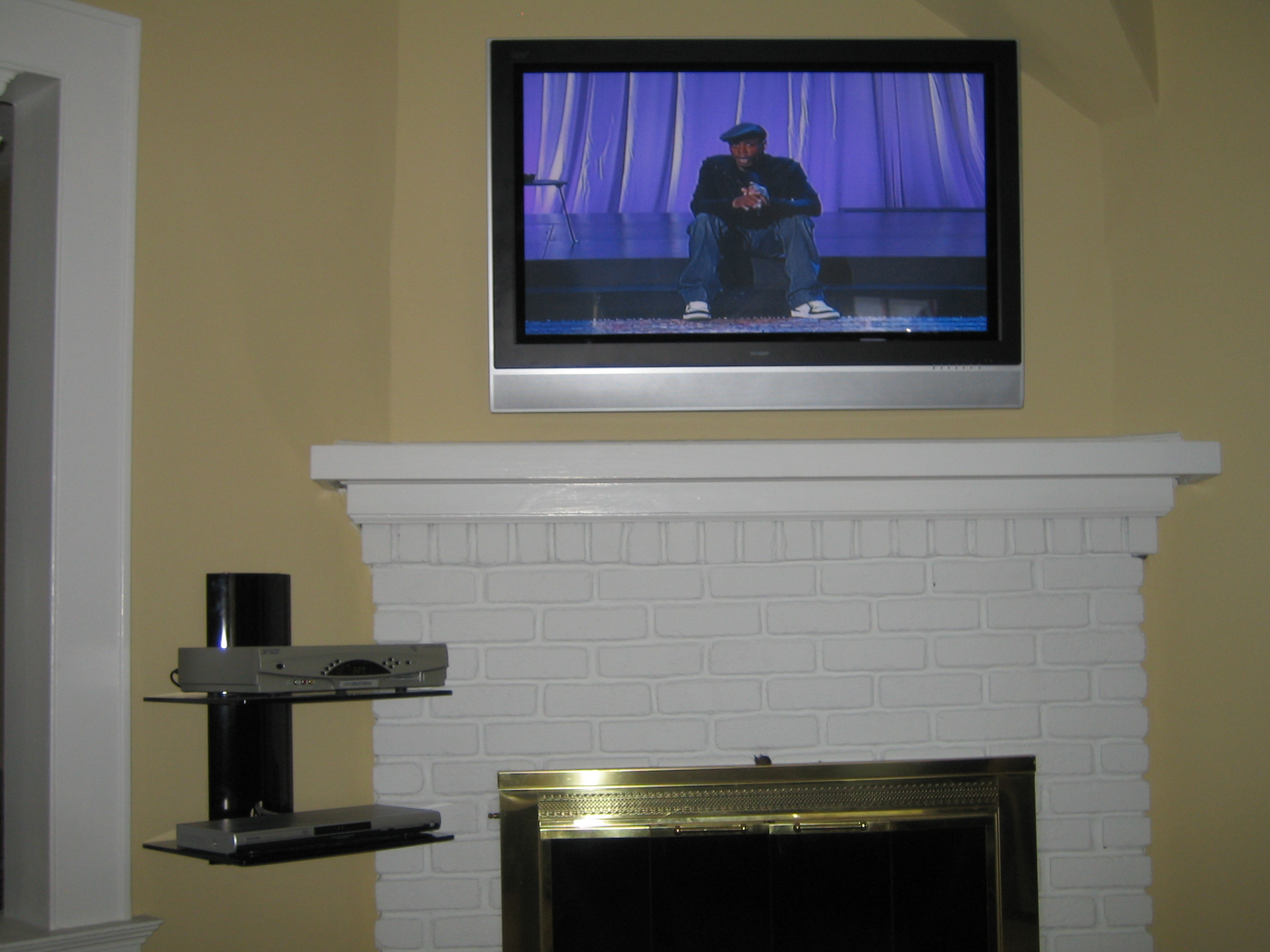 Coventry Ct Mount Tv Above Fireplace Home Theater Installation