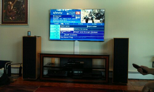 Wire Solution Tv On Wall Happy Ct Customer Home Theater