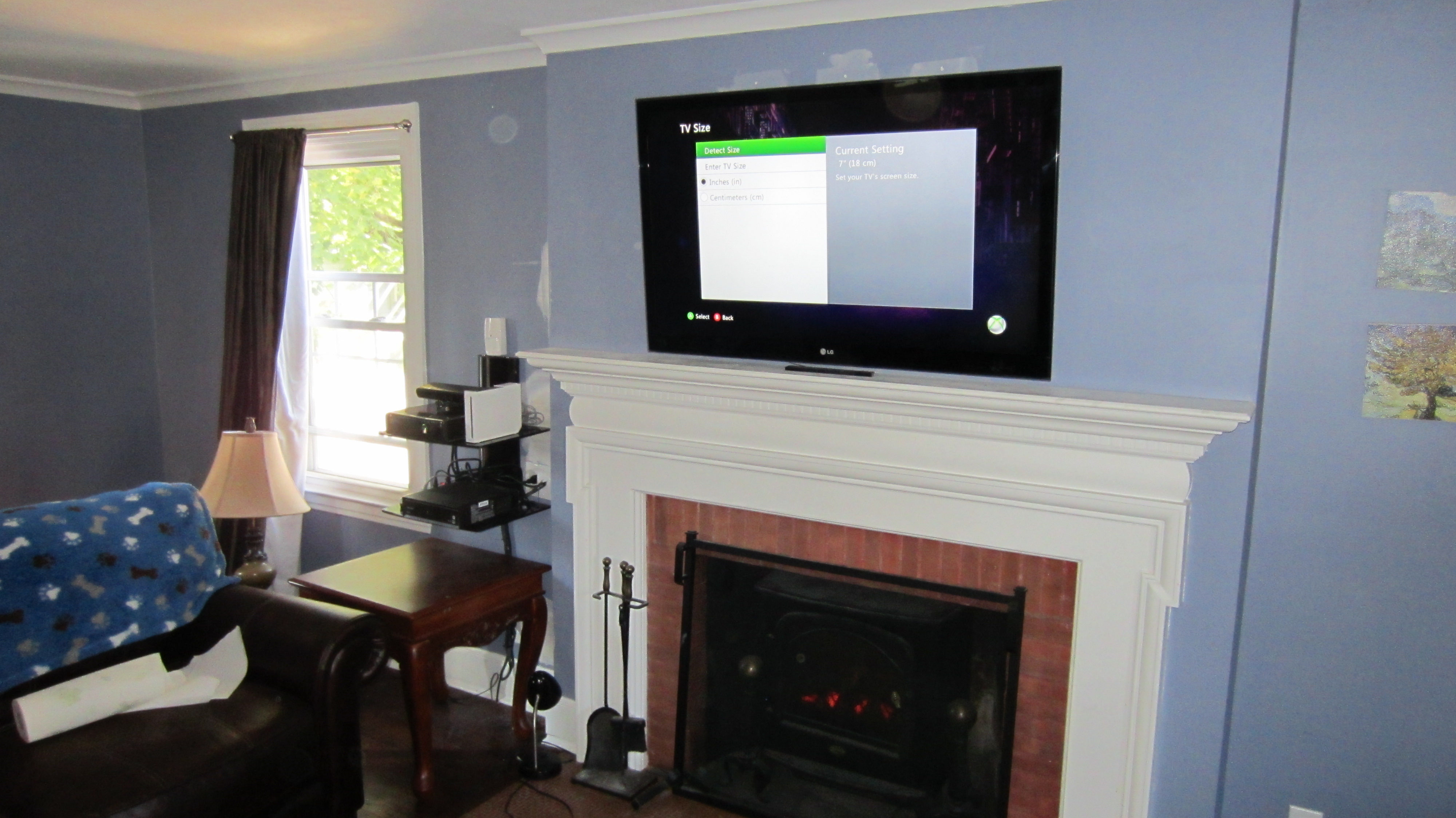 Hanging Tv On Wall Where To Put Cable Box Shapeyourminds Com