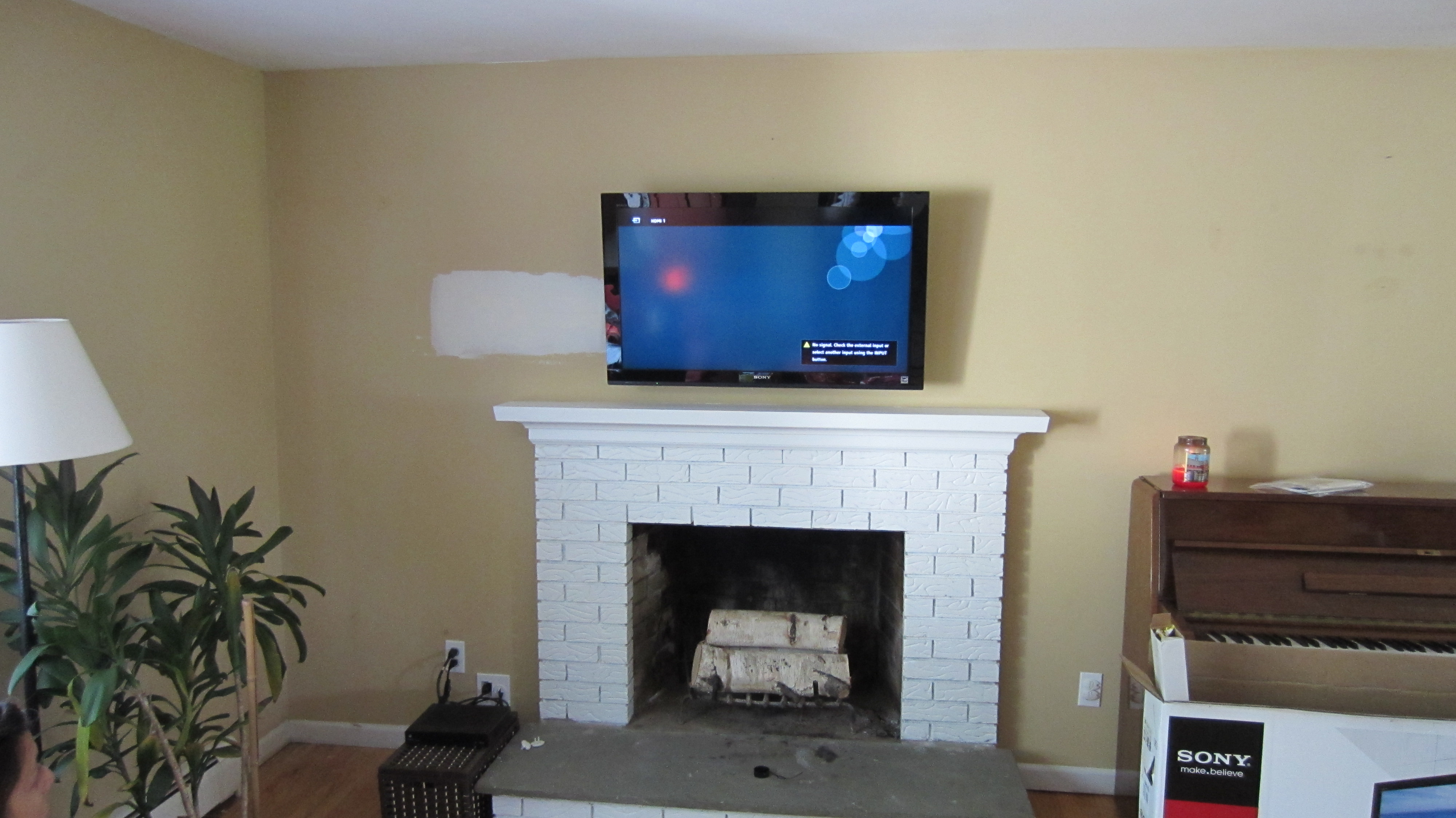 Meriden Ct Tv Mounting Over Fireplace Img on Sony Home Theater System Installation