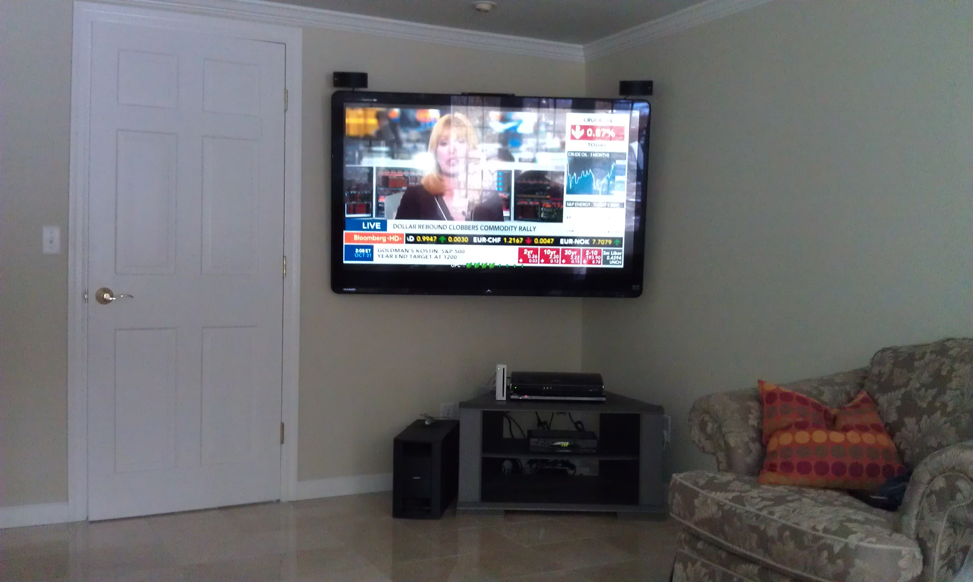 Norwalk Ct Tv Installation On The Wall In Corner 2