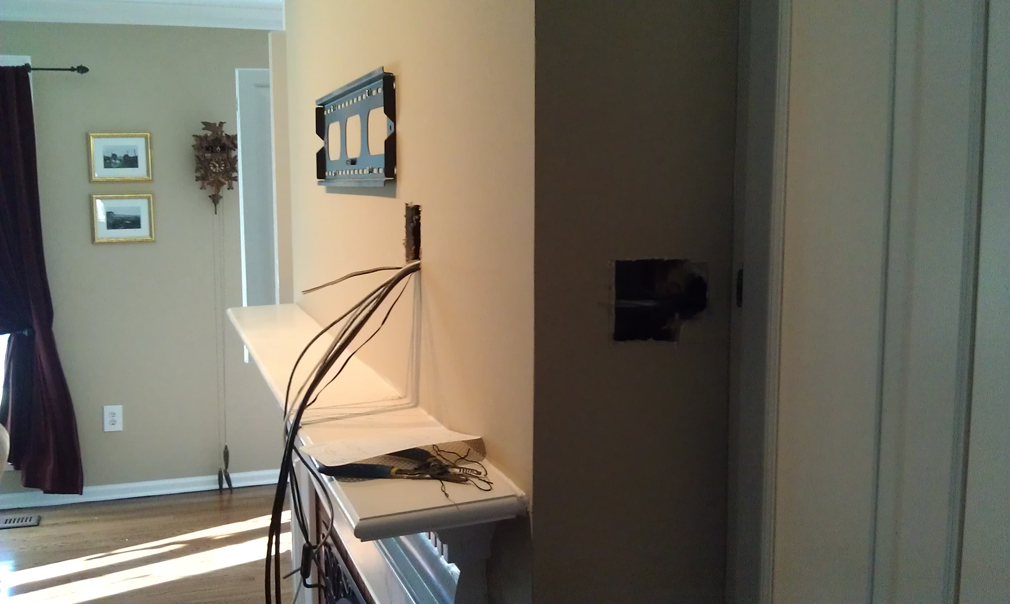 Wall Mount Tv Above Fireplace Hide Wires Install Over With
