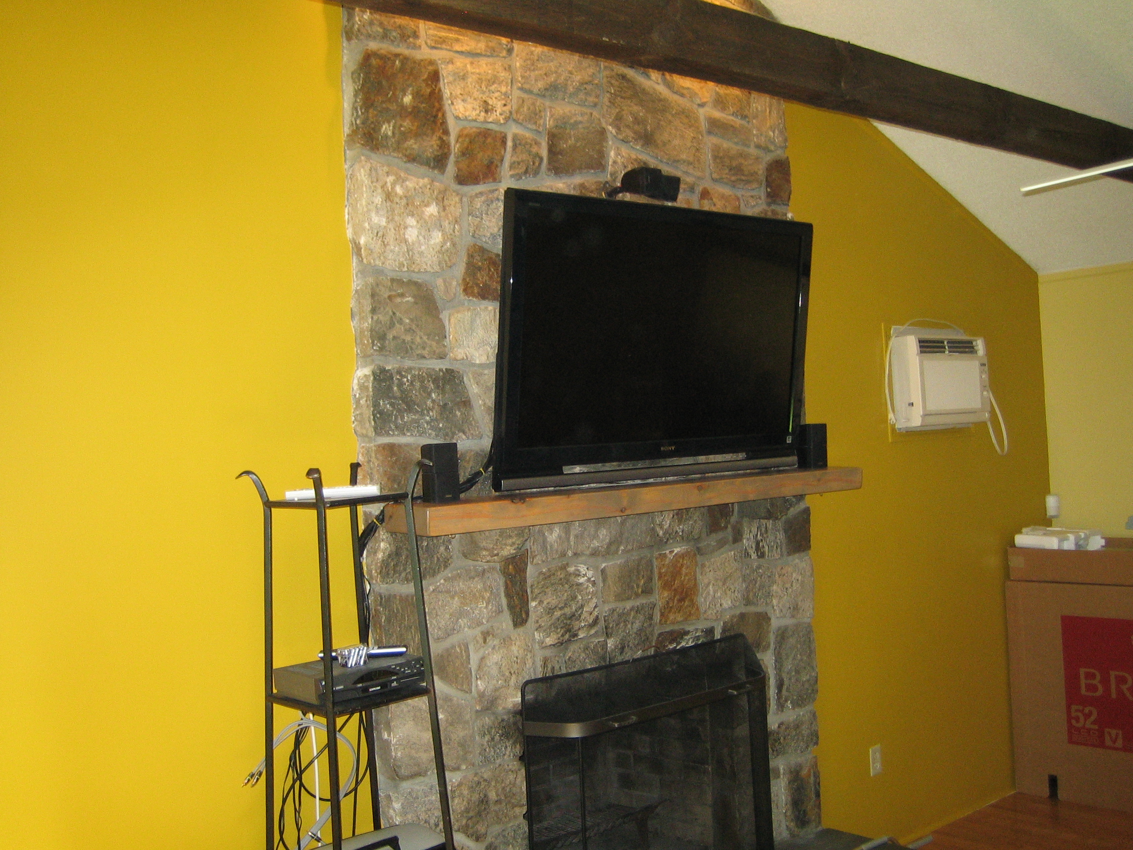 Exelent Stone Wall Fireplace Ideas Mold - The Wall Art Decorations ...