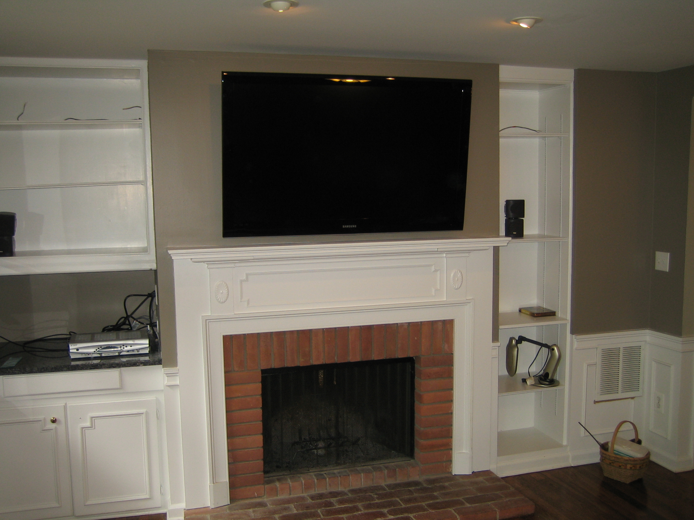 Install Tv Above Fireplace Hide Wires Home Design Ideas